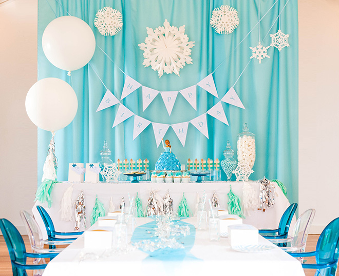Frozen Themed Party Decoration Ideas Part - 43: Festa-frozen23