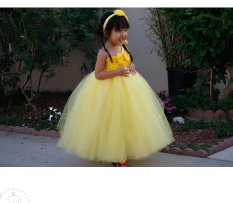 Flower girl dresses that are just too cute to ignore baby couture sunflower blossom yellow one shoulder tutu dress sunflowerblossomyellowoneshouldertutudress mightylinksfo