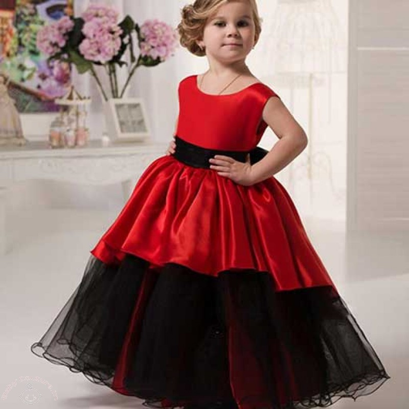 Queen Elegance Red High Low Gown