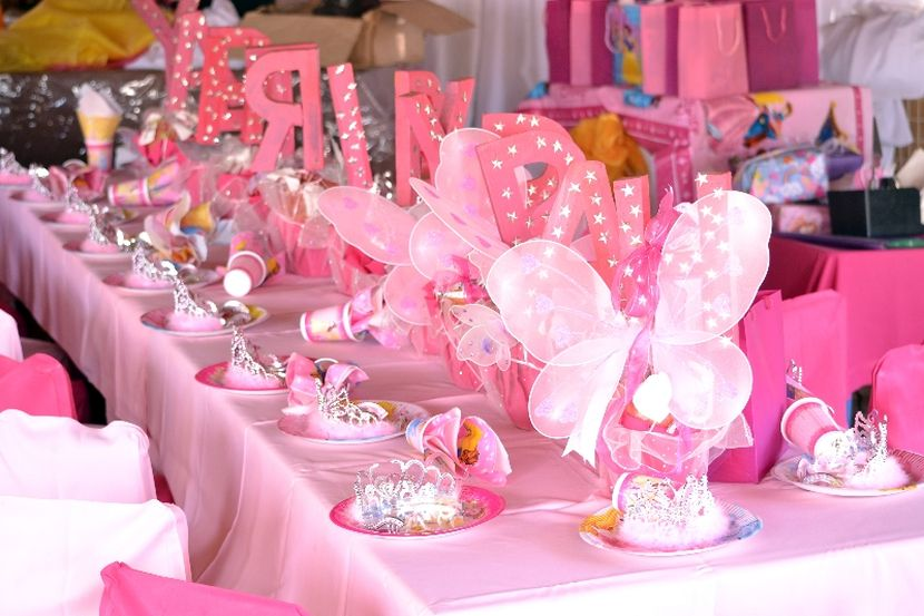 Pretty in pink birthday party baby couture india pink decoration junglespirit