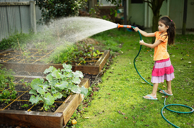 6 tips to encourage your child serve the society baby for Gardening with children