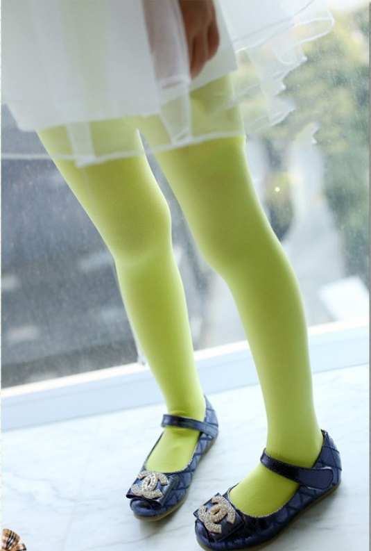 Neon Green Candy Stockings