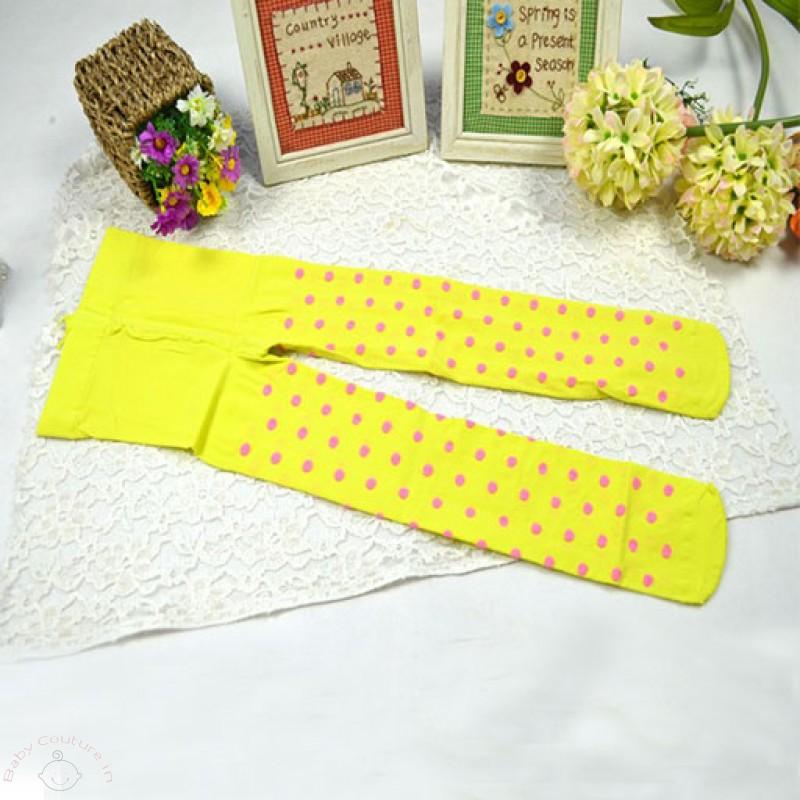 Yellow Polka Dot Candy Stocking