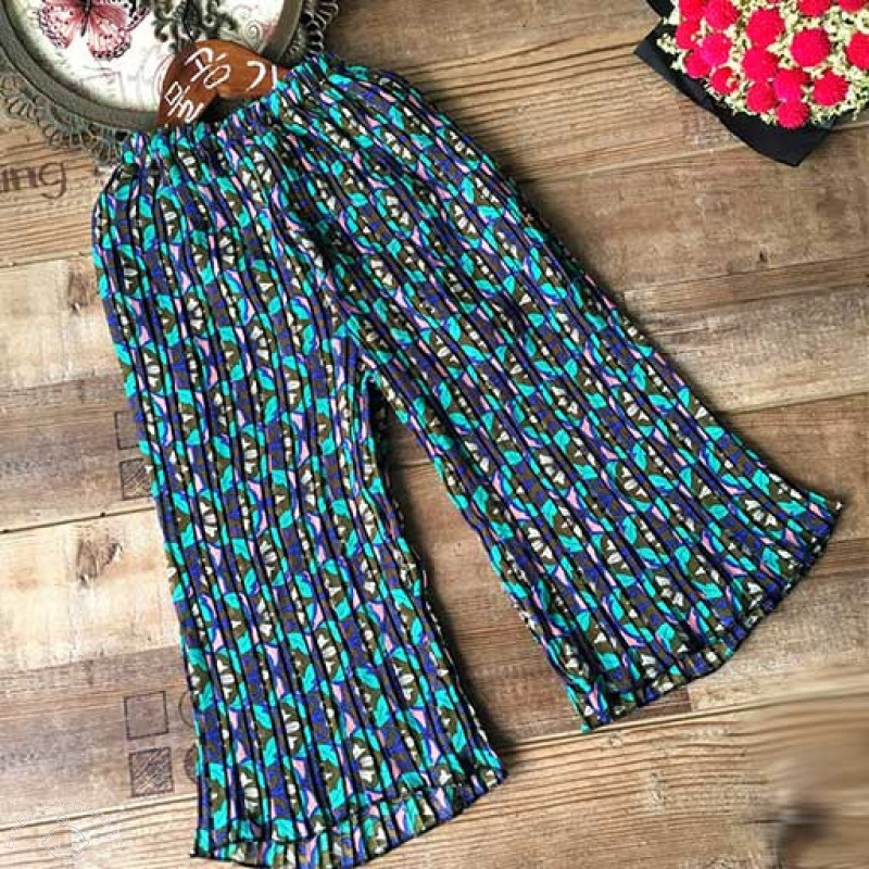 blue-pleated-floral-palazzo-pants