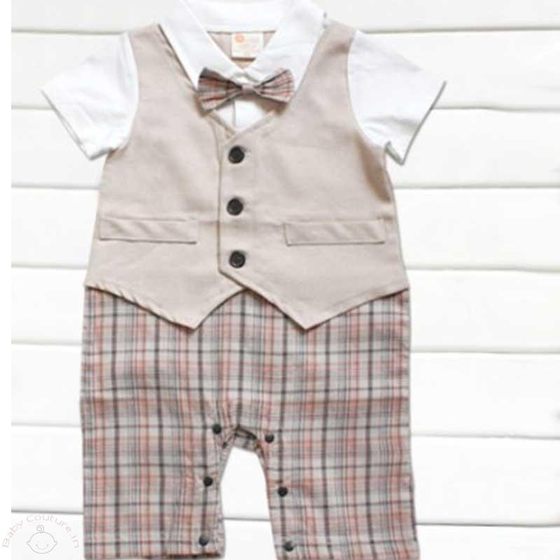 handsome-checkered-khaki-baby-boye-romper1