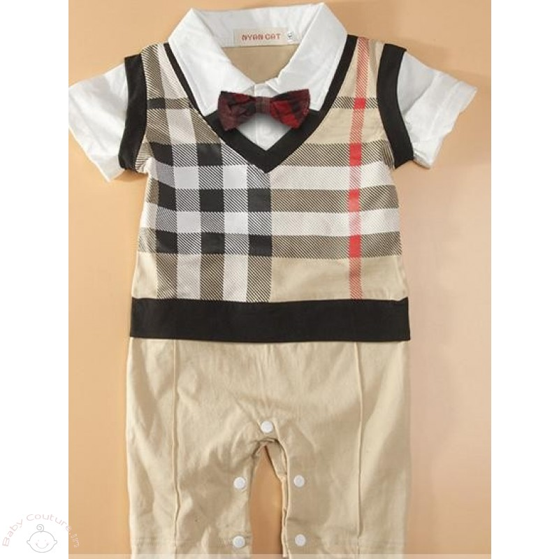 plaided_style_baby_boy_bow_romper_4_