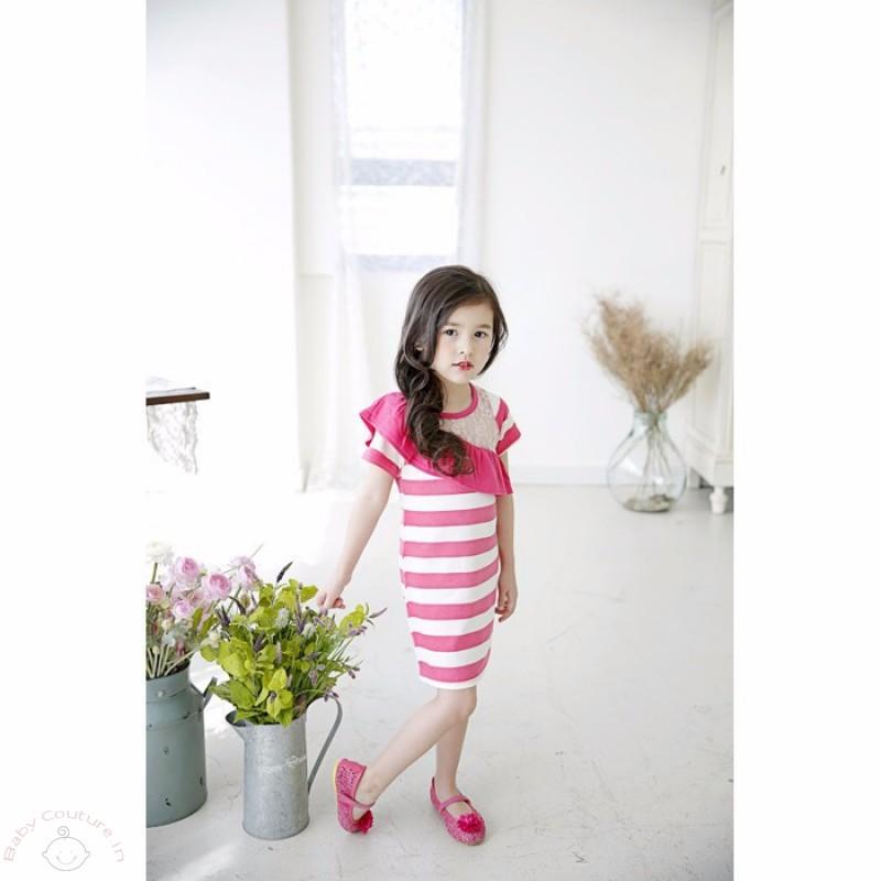 stylish_summer_pink_striped_dress_3