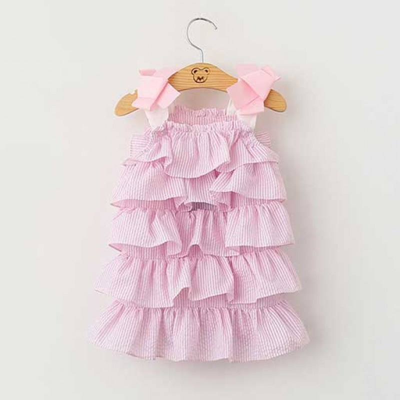 cute-pink-stripes-summer-sling-dress
