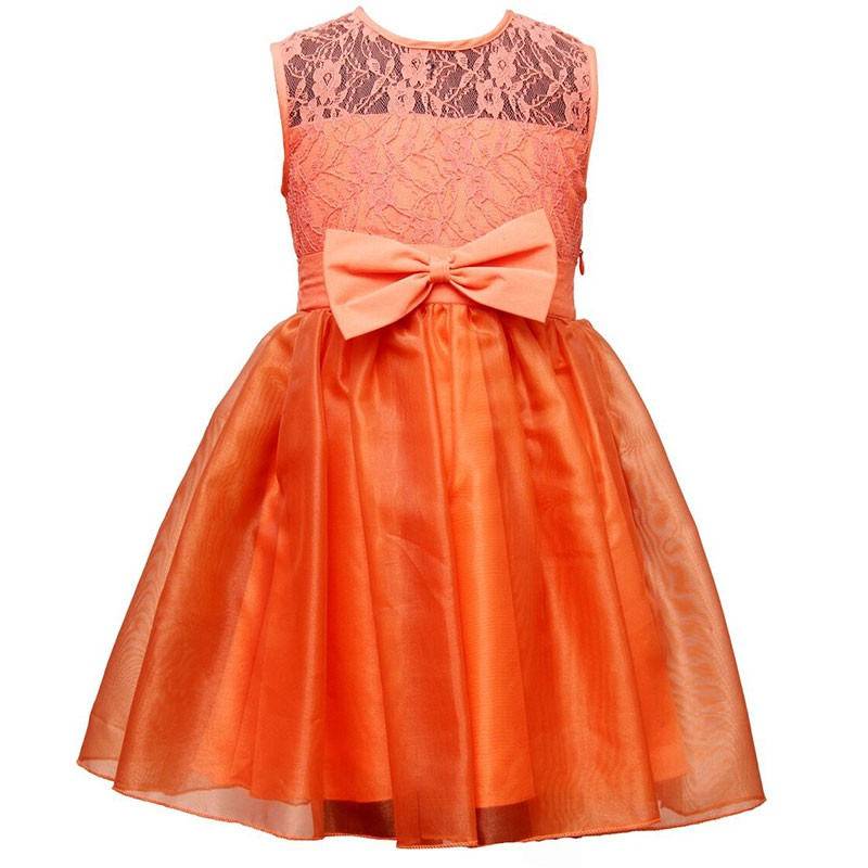 darlee_dache_orange_stylish_flare_kids_party_dress