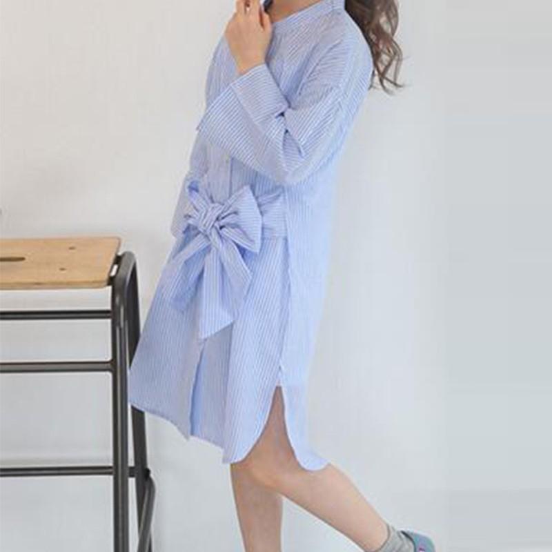 funky-blue-stripes-summer-shirt-dress5