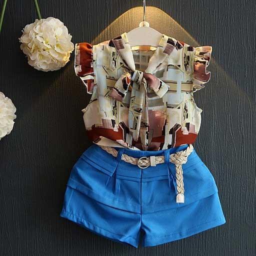 gracious-abstract-blue-kids-shorts-set