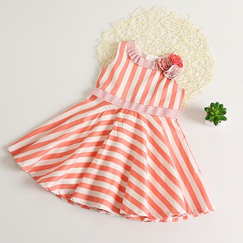 orange-bar-stripes-lovely-summer-dress
