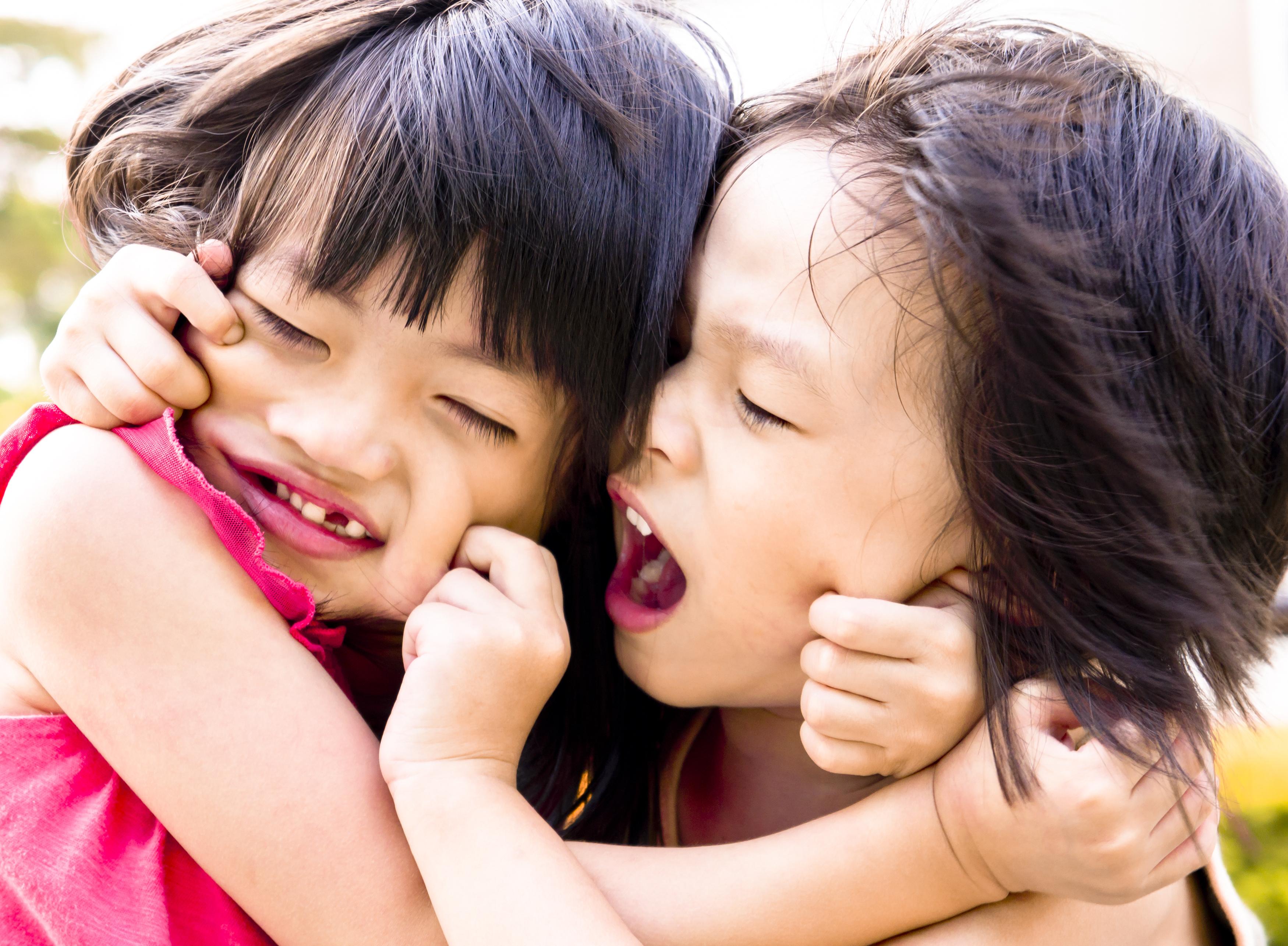 Sibling playing