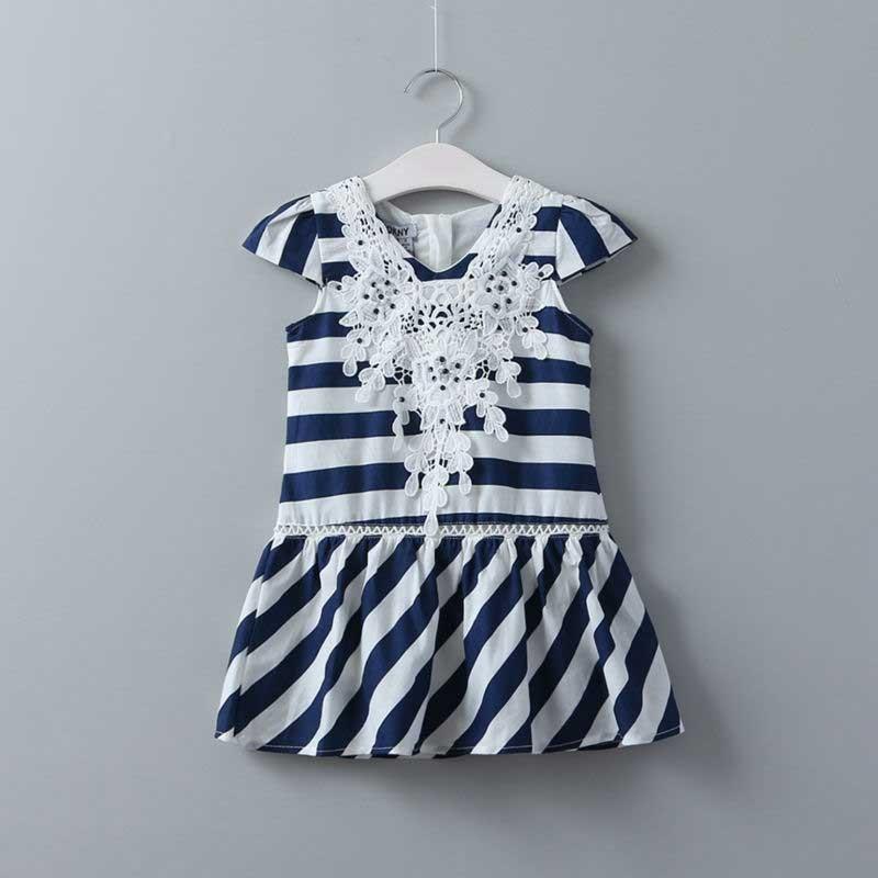 stripped-lace-neck-kids-dress