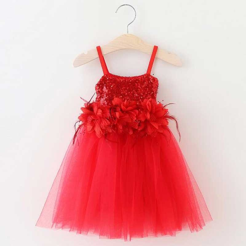 lovely-red-sequin-kids-party-tutu-dress
