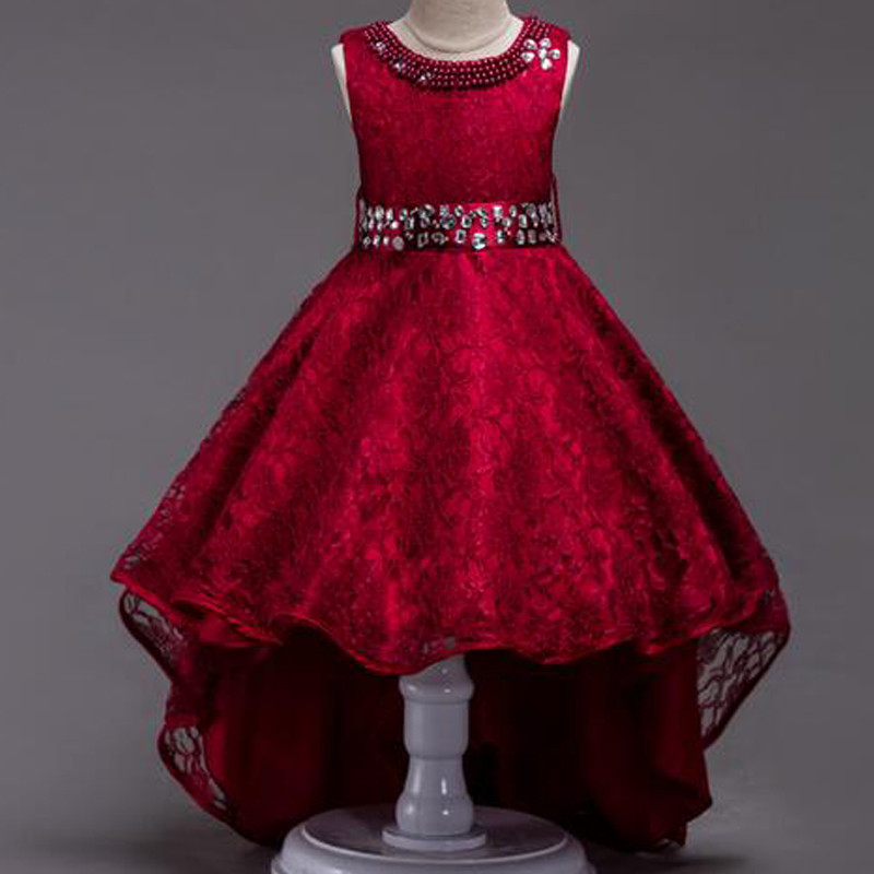 wine-lace-pearls-neck-high-low-party-dress