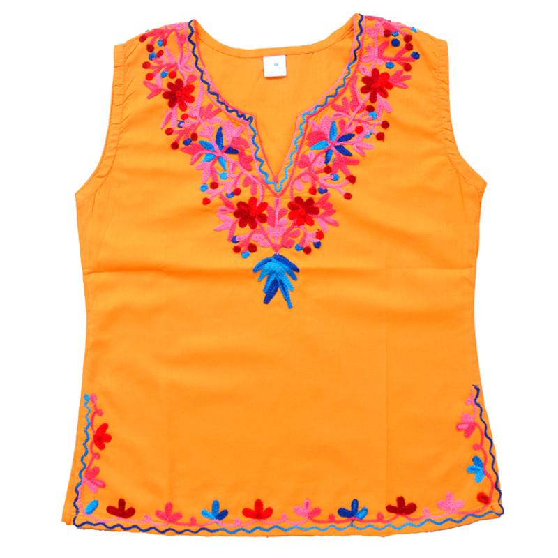 swankyme_mustard_blue_embroidered_kurti