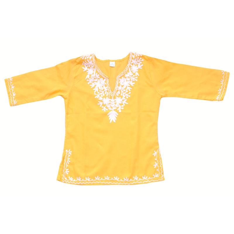 swankyme_mustard_white_embroidered_kurti3