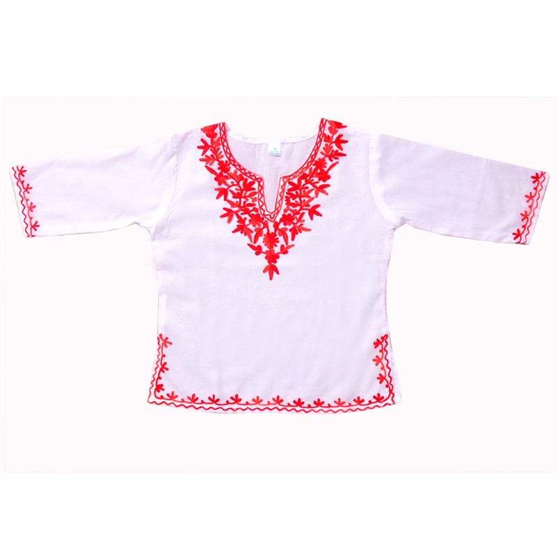 swankyme_white_red_embroidered_kurti