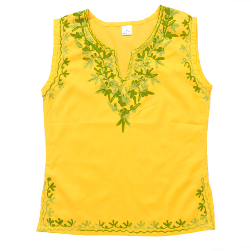 swankyme_yellow_embroidered_kurti1