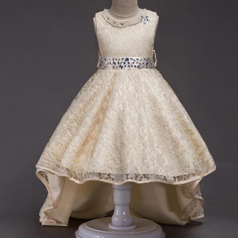 beige-pearls-neck-high-low-party-dress