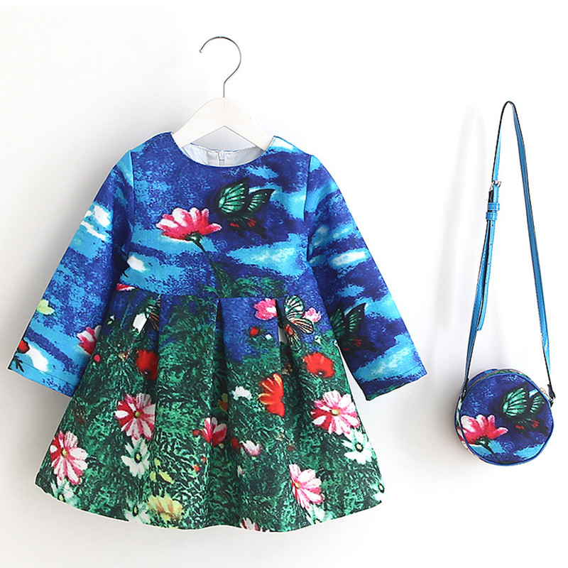 butterfly-_-flowers-printed-kids-dress-with-bag