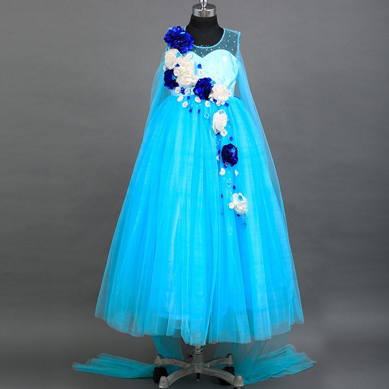 saka_elsa_blue_cape_style_party_gown