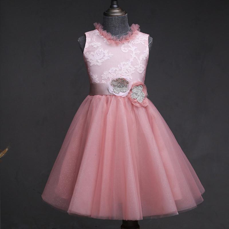 shimmery-blush-pink-kids-party-dress