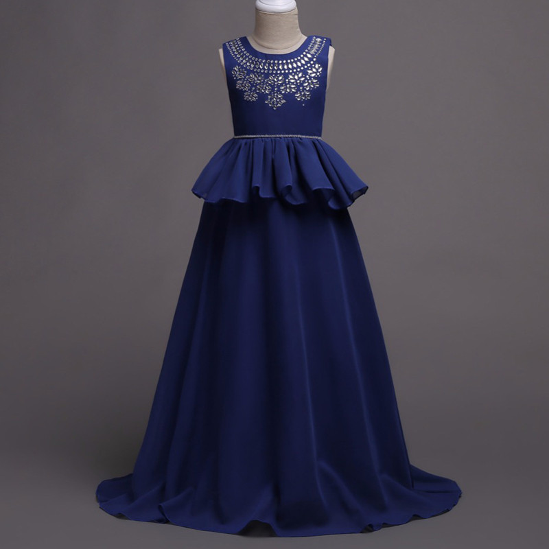 glittery_blue_peplum_kids_gown