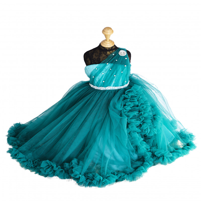pinkcow_beads_embellishment_turquoise_kids_party_gown