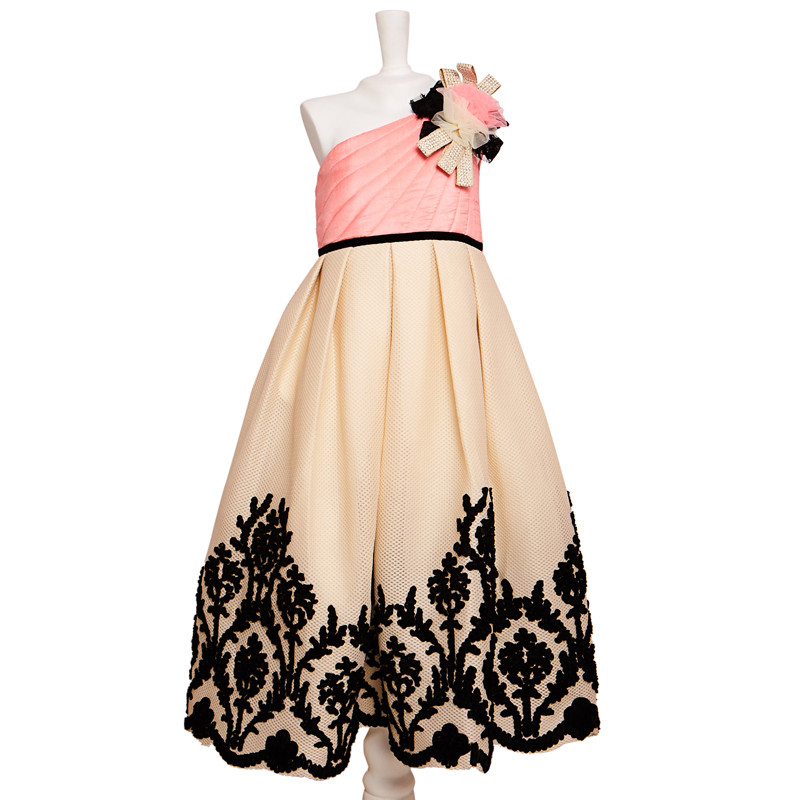 pinkcow_pretty_pink_and_black_party_dress