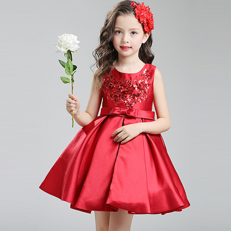romantic-red-sequin-kids-party-dress