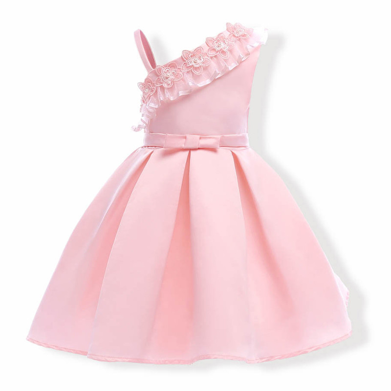 peachy_pink_stylish_shoulder_flower_kids_dress