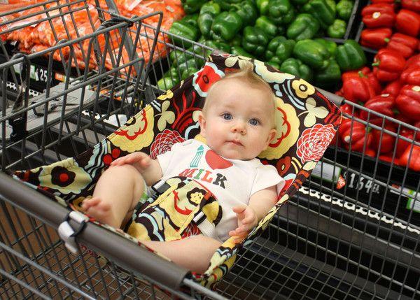 Put Baby Car Seat Shopping Cart