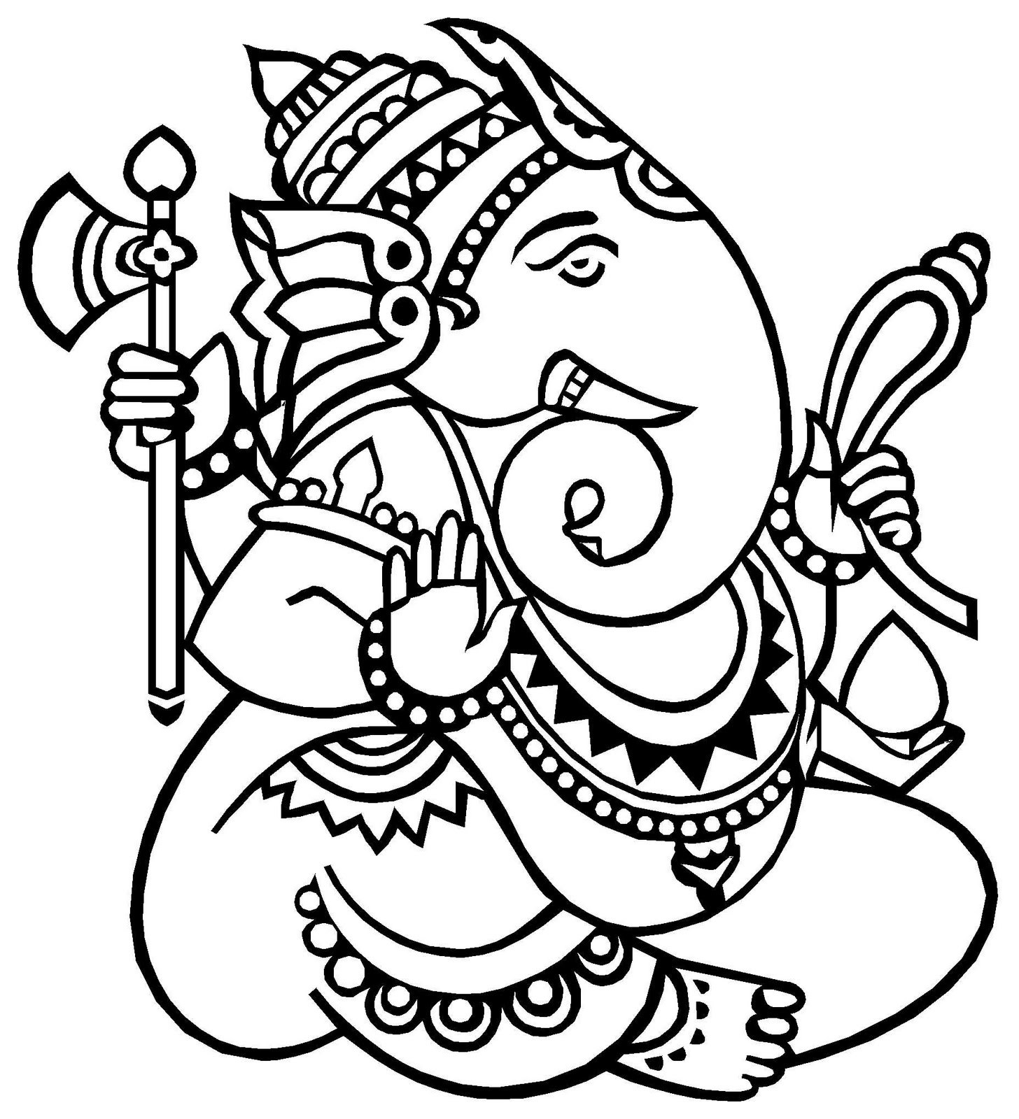 Top 5 kid games and activities for ganesh chaturthi baby for Ganesha coloring pages