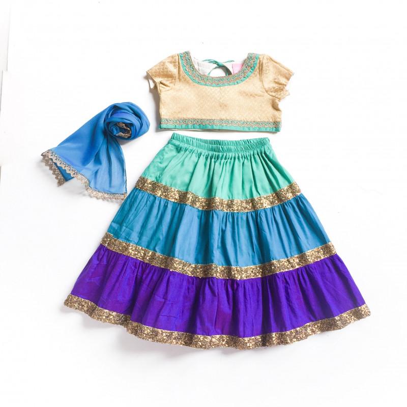 little_pixie_blue_multicolor_vibrant_lehanga_choli_set_1