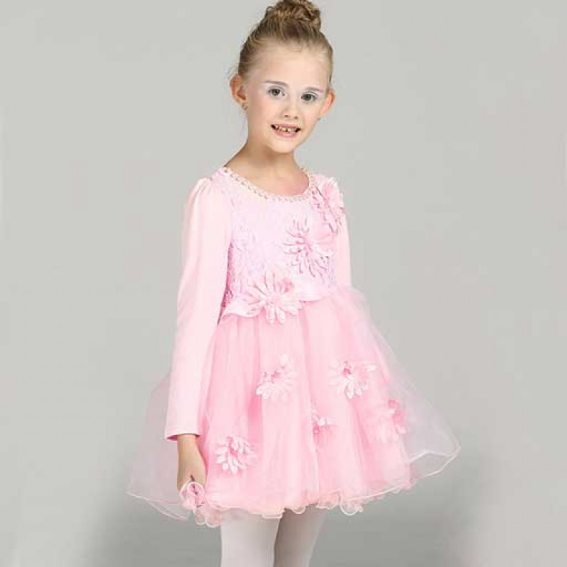 peachy-pink-pearly-neck-autumn-kids-dress
