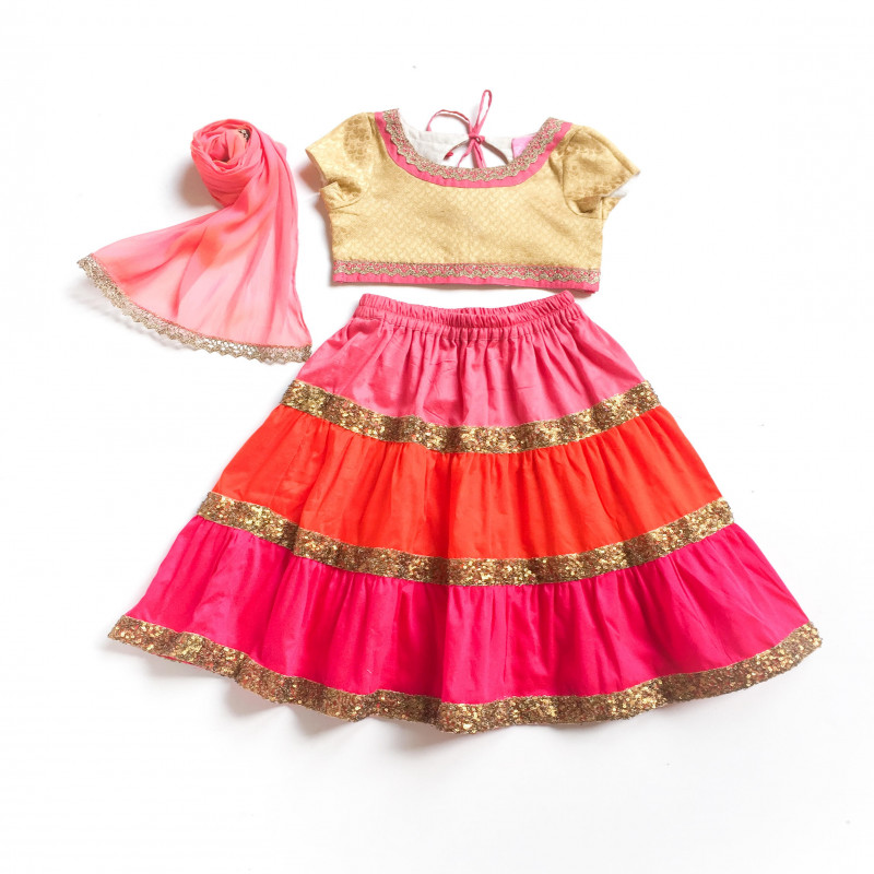 little_pixie_multicolor_vibrant_lehanga_choli_set