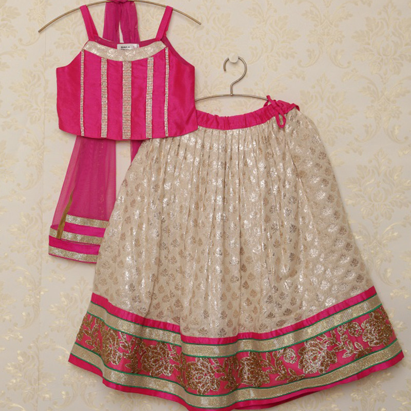 saka_gorgeous_hot_pink_and_silver_kids_party_lehnga_choli_set