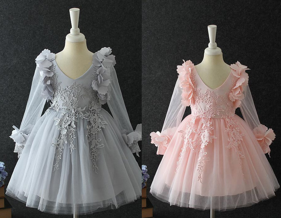 Lovely-Sleeves-3D-Kids-Dress