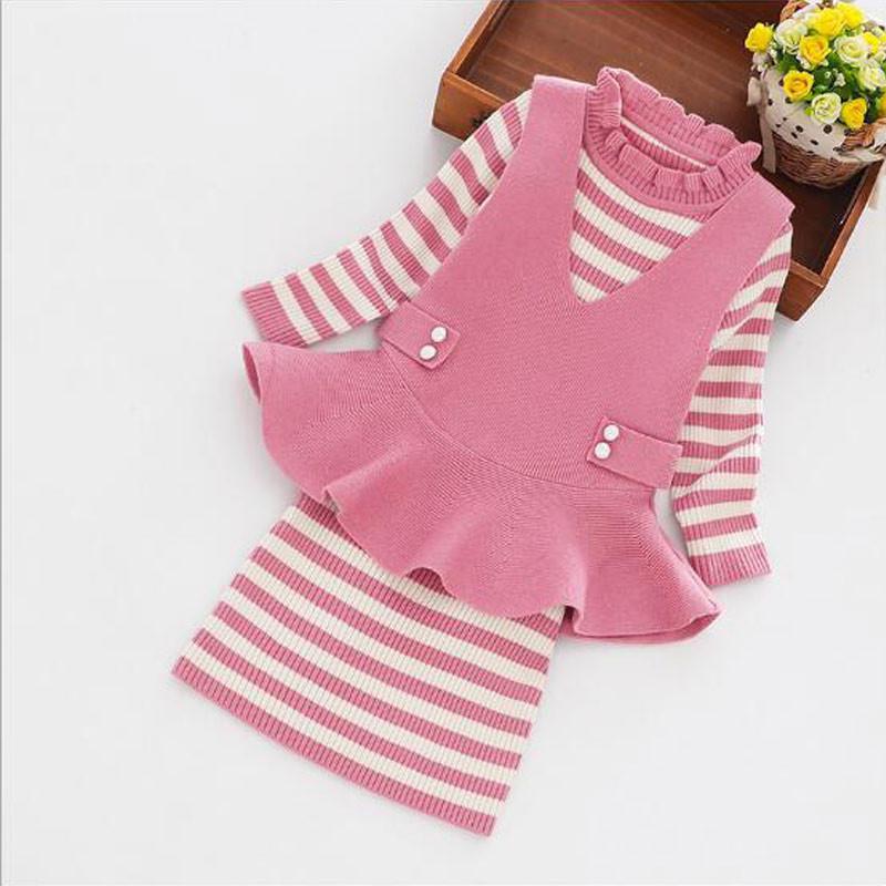 knitted_pink_creme_peplum_dress