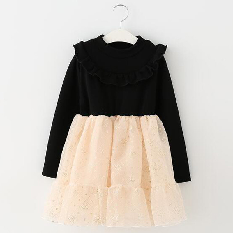 midnight_black_beige_fleece_kids_dress4