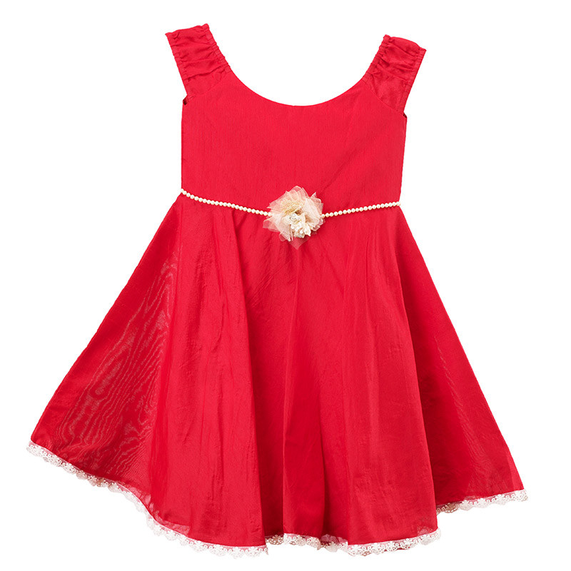 pink_cow_bright_red_kids_party_dress2