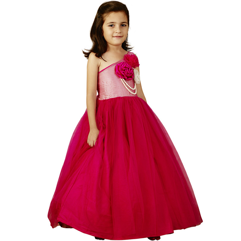 pink_cow_pearly_flower_kids_gown