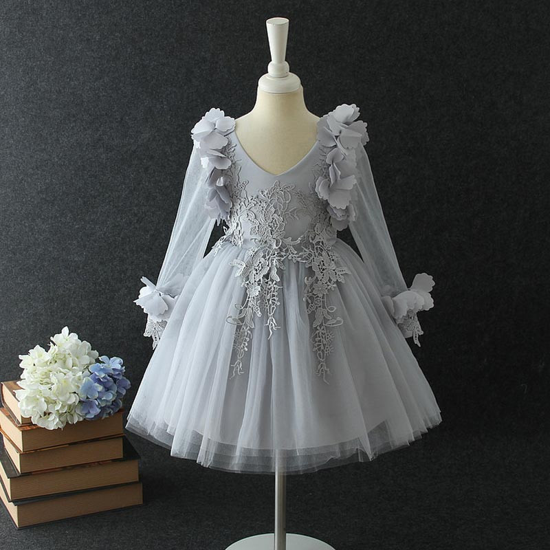 silver_grey_lovely_sleeves_3d_kids_dress