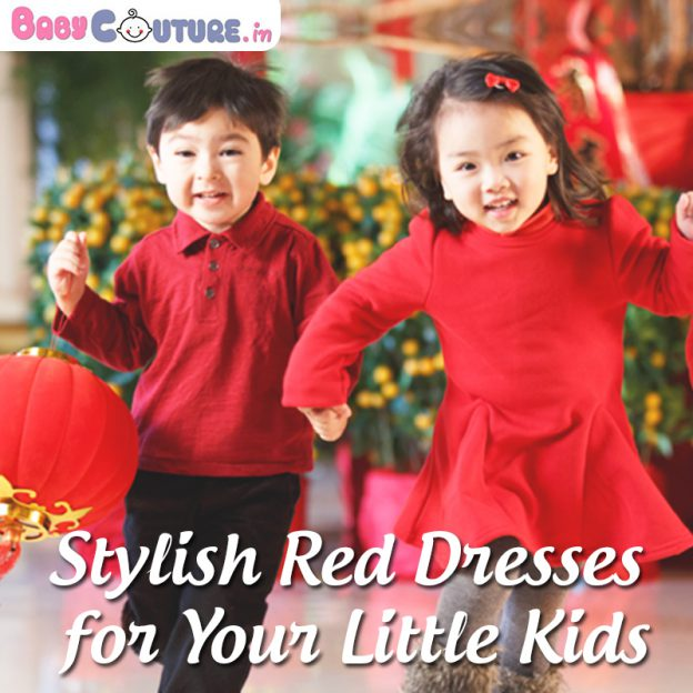 little kids red dresses