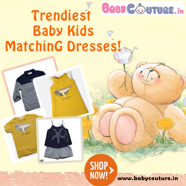 baby kids matching dresses