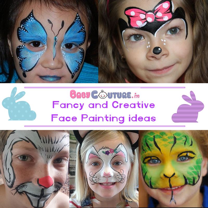 14 Creative Face Painting Ideas For Kids Fancy Dress Competition Baby Couture India