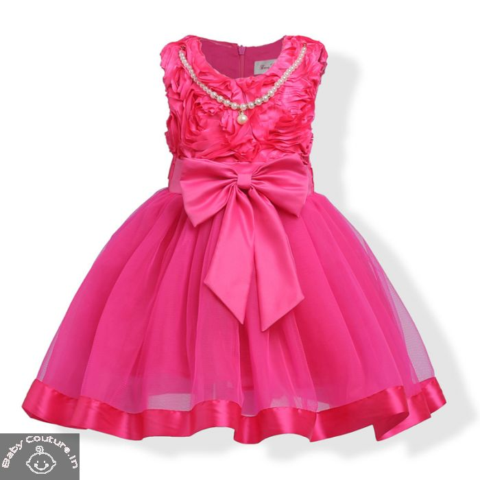 4a739455754f 3D Rose Lovely Pearls Party Dress
