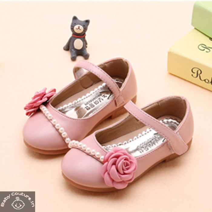Pearls \u0026 Flower Pink Girls Sandal